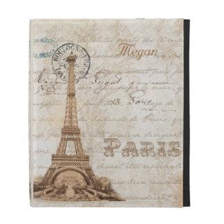 Caja personalizada vintage francés del iPad de Par