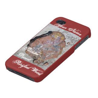 Caja pintada de la mota de madera aterrorizada del iPhone 4/4S fundas