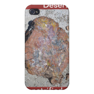 Caja pintada de la mota de madera aterrorizada del iPhone 4 funda
