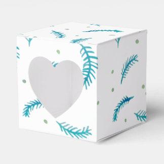 Caja pintada del favor del corazón de los helechos caja para regalos