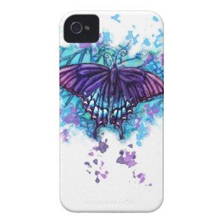 Caja pintada del IP de la mariposa iPhone 4 Cobertura