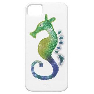 Caja pintada del teléfono del Seahorse del verde a iPhone 5 Case-Mate Funda