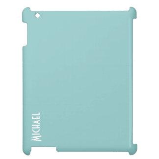Caja plástica dura azul del iPad de Shell de la