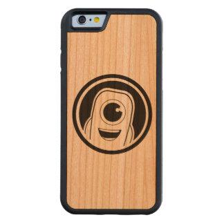Caja plateada madera máxima del teléfono del funda de iPhone 6 bumper cerezo