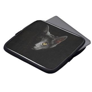 Caja provocada del ordenador portátil del gato manga portátil