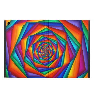 Caja psicodélica del aire del iPad del espiral del