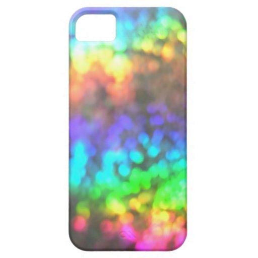 Caja psicodélica del arco iris del ~ de Glitterati iPhone 5 Funda
