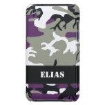 Caja púrpura adaptable del tacto de Camo iPod iPod Case-Mate Protector