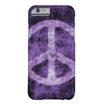 Caja púrpura apenada del iPhone 6 del signo de la