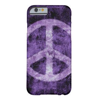 Caja púrpura apenada del iPhone 6 del signo de la Funda De iPhone 6 Barely There