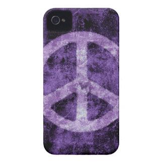 Caja púrpura apenada del iPhone del signo de la pa iPhone 4 Case-Mate Funda