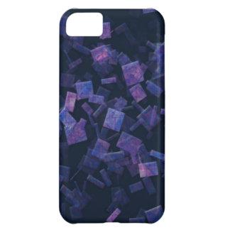 Caja púrpura azul abstracta del teléfono de los cu funda para iPhone 5C