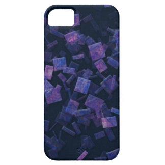 Caja púrpura azul abstracta del teléfono de los funda para iPhone SE/5/5s