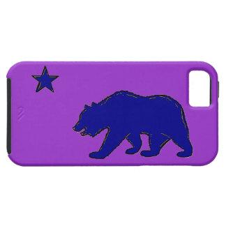 Caja púrpura azul del iphone 5 del oso de la iPhone 5 fundas