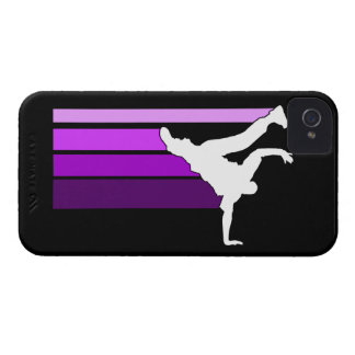 Caja púrpura/blanca de la pendiente de BBOY del iP iPhone 4 Funda
