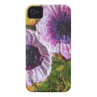 Caja púrpura de Blackberry de la correhuela Case-Mate iPhone 4 Protectores