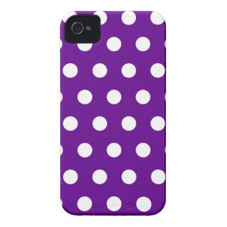 Caja púrpura de Blackberry del lunar Case-Mate iPhone 4 Fundas