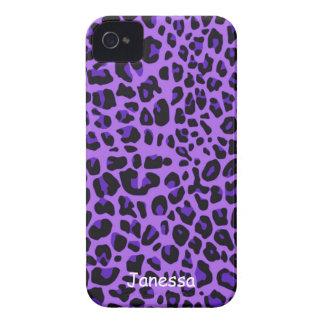Caja púrpura de Blackberry del modelo de Jaguar Case-Mate iPhone 4 Carcasa