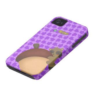 Caja púrpura de Blackberry del pequeño Racoon iPhone 4 Cobertura