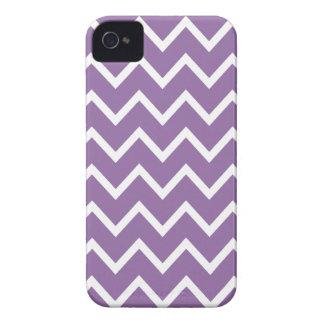 Caja púrpura de Chevron Iphone 4S del Bellflower iPhone 4 Case-Mate Fundas
