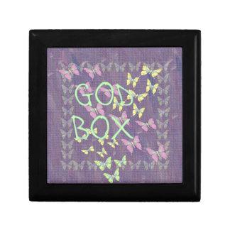 Caja púrpura de dios cajas de recuerdo