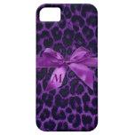 Caja púrpura de encargo del iPhone 5 del estampado iPhone 5 Protectores