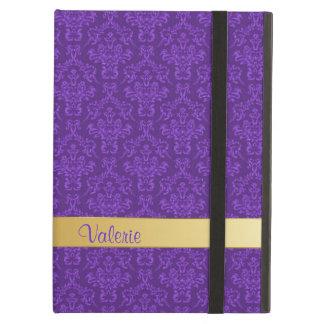 Caja púrpura de encargo elegante del aire del iPad