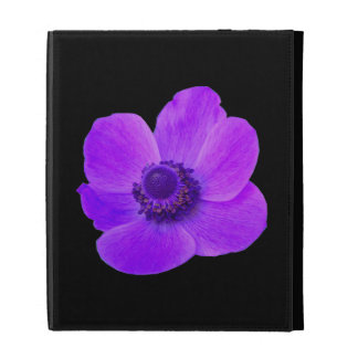 Caja púrpura de Ipad de la anémona