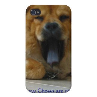 Caja púrpura de Iphone 4/4s de la lengua del perro iPhone 4 Carcasas