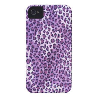 Caja púrpura de Iphone 4S del estampado leopardo iPhone 4 Case-Mate Cobertura