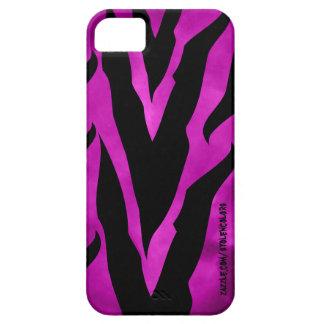 Caja púrpura de Iphone 5 del estampado de zebra iPhone 5 Carcasa