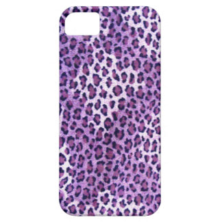 Caja púrpura de Iphone 5S del estampado leopardo Funda Para iPhone SE/5/5s