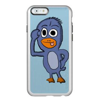 Caja púrpura de Iphone 6 del pingüino Funda Para iPhone 6 Plus Incipio Feather Shine
