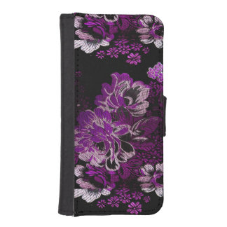 Caja púrpura de la cartera del iPhone 5/5S del Billetera Para Teléfono