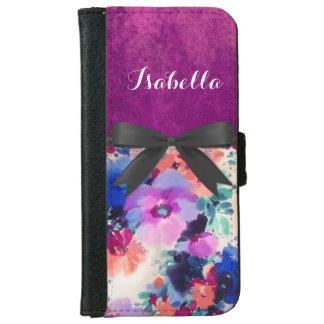 Caja púrpura de la cartera del iPhone 5/5S del