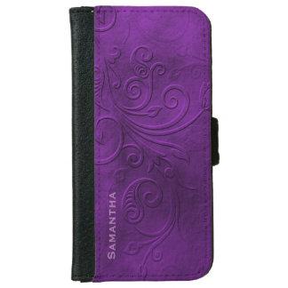 Caja púrpura de la cartera del iPhone 6 del Carcasa De iPhone 6