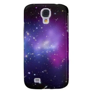 Caja púrpura de la casamata del racimo de la galax funda para galaxy s4