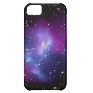 Caja púrpura de la casamata del racimo de la galax funda para iPhone 5C