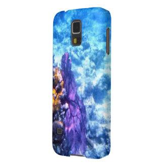 Caja púrpura de la fan de mar carcasa para galaxy s5