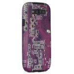 Caja púrpura de la galaxia S3 de la textura 1 de l Samsung Galaxy S3 Cárcasa