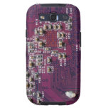 Caja púrpura de la galaxia S3 de PhotoTexture 2 de Samsung Galaxy S3 Carcasas