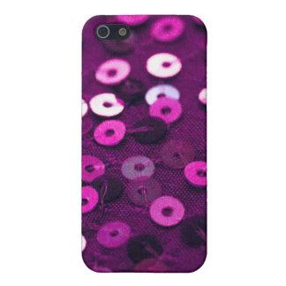 caja púrpura de la lentejuela del iPhone iPhone 5 Funda