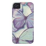 Caja púrpura de la mariposa Case-Mate iPhone 4 cárcasas