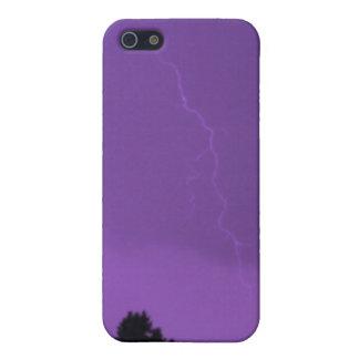 Caja púrpura de la mota de Iphone 4/4s del relámpa iPhone 5 Fundas