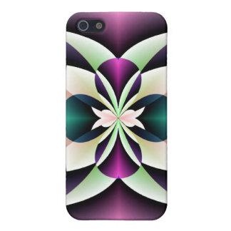 Caja púrpura de la mota del extracto del trullo iPhone 5 fundas