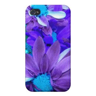 Caja púrpura de la mota del iPhone 4 del ramo de l iPhone 4 Cárcasas