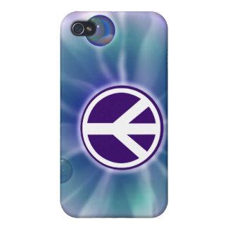 Caja púrpura de la mota del iPhone 4 del teñido an iPhone 4 Carcasas