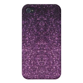 Caja púrpura de la mota del punto iPhone 4 cárcasas