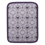 Caja púrpura de las mariposas del damasco de la ma funda para iPads