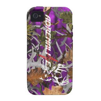 Caja púrpura de los ciervos del camuflaje de la bú iPhone 4 fundas
